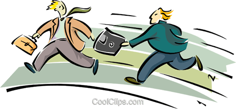 business men running passing a diskette Royalty Free Vector Clip Art illustration peop2622