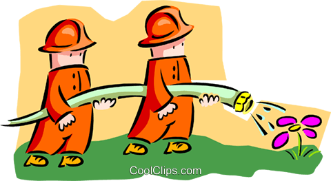 firemen - cartoon Royalty Free Vector Clip Art illustration peop2633
