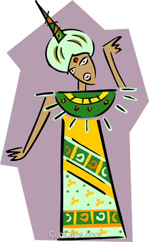 Eastern woman Royalty Free Vector Clip Art illustration peop2634