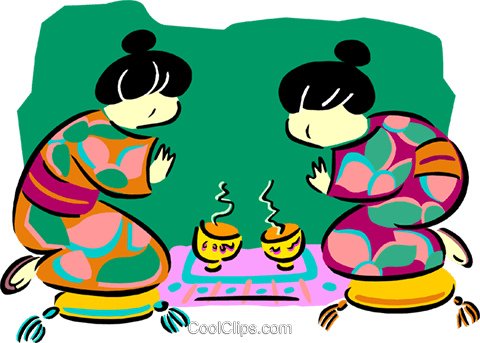 Japanese women Royalty Free Vector Clip Art illustration peop2637
