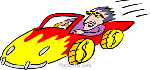 cartoon racecar Royalty Free Vector Clip Art illustration spec0191