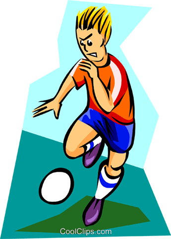 soccer player Royalty Free Vector Clip Art illustration spec0205
