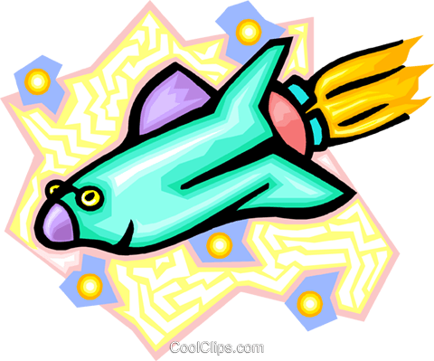 cartoon shuttle Royalty Free Vector Clip Art illustration tran0869
