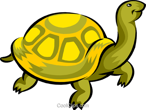 turtle Royalty Free Vector Clip Art illustration anim1741