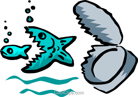 fish concept Royalty Free Vector Clip Art illustration anim1743