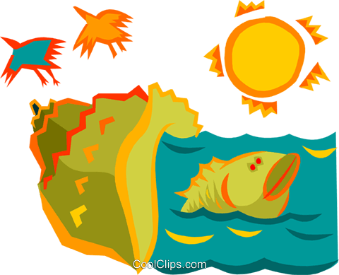 aquatic concept Royalty Free Vector Clip Art illustration anim1746