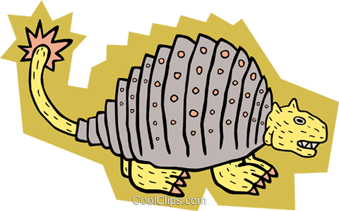 Prehistoric animal Royalty Free Vector Clip Art illustration anim1752