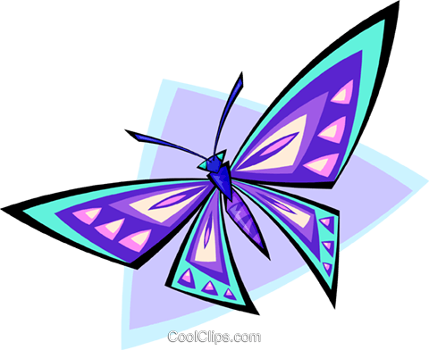 butterfly Royalty Free Vector Clip Art illustration anim1759