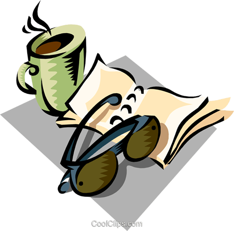 morning coffee Royalty Free Vector Clip Art illustration busi1465