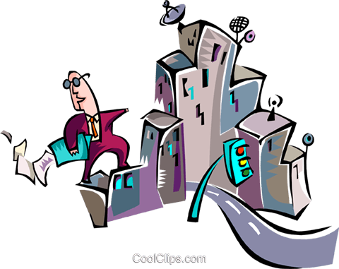 business in the city Royalty Free Vector Clip Art illustration busi1468
