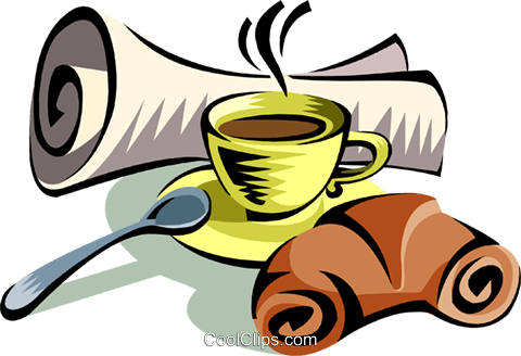 morning coffee Royalty Free Vector Clip Art illustration food0910