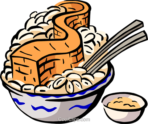 Chinese food Royalty Free Vector Clip Art illustration food0920