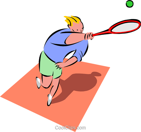 tennis player Royalty Free Vector Clip Art illustration peop2641