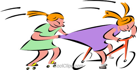 kids playing Royalty Free Vector Clip Art illustration peop2672
