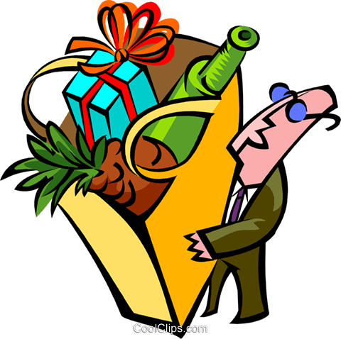 man with groceries Royalty Free Vector Clip Art illustration peop2684