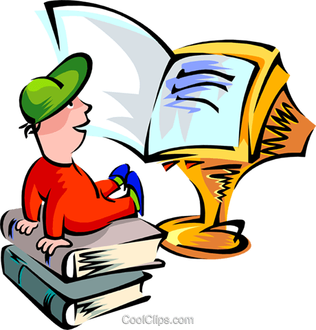 computers as books Royalty Free Vector Clip Art illustration peop2693