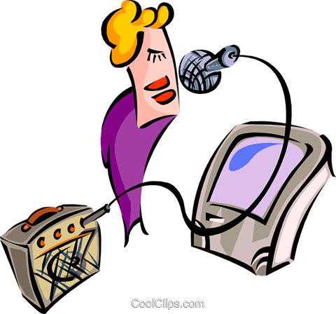 karaoke Royalty Free Vector Clip Art illustration peop2697