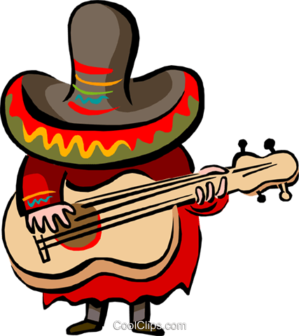 Mexican music Royalty Free Vector Clip Art illustration peop2712