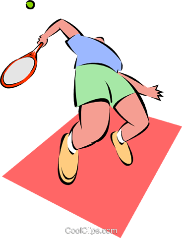 tennis Royalty Free Vector Clip Art illustration spor0299