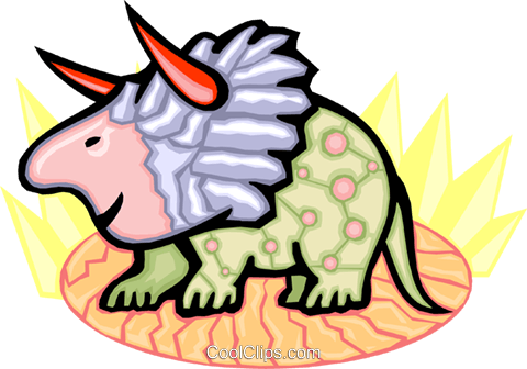 Triceratops Royalty Free Vector Clip Art illustration anim1769