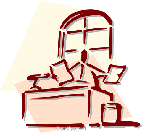 office worker Royalty Free Vector Clip Art illustration busi1478