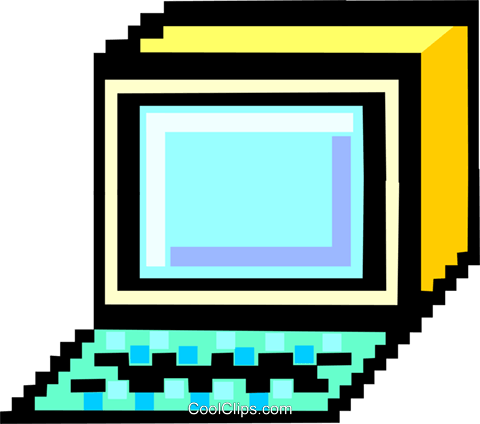 computer iconized Royalty Free Vector Clip Art illustration busi1490