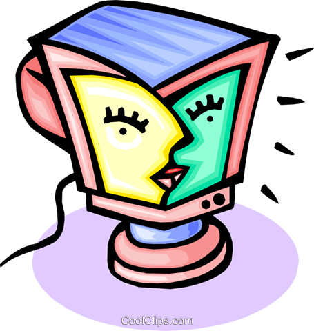 computer monitor Royalty Free Vector Clip Art illustration busi1494