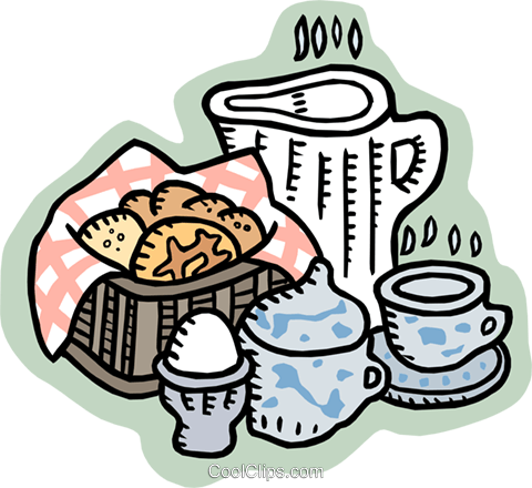 cookies and tea Royalty Free Vector Clip Art illustration food0930