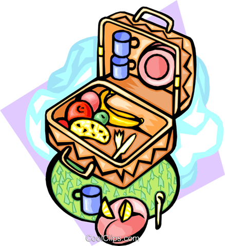 Picnic foods Royalty Free Vector Clip Art illustration food0956