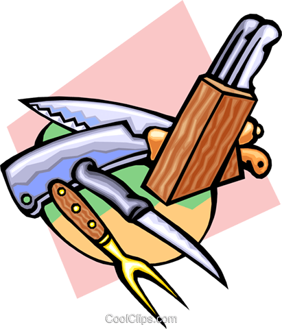 knives Royalty Free Vector Clip Art illustration hous1238