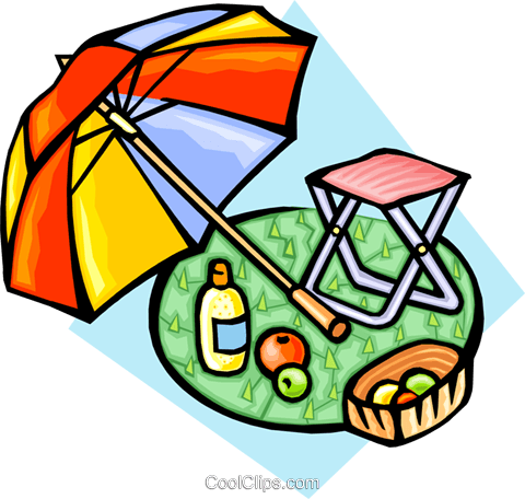 Picnic accessories Royalty Free Vector Clip Art illustration natu0814