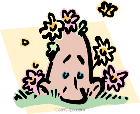 Man enjoying spring weather Royalty Free Vector Clip Art illustration peop2731