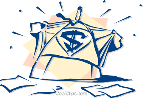business superman Royalty Free Vector Clip Art illustration peop2799