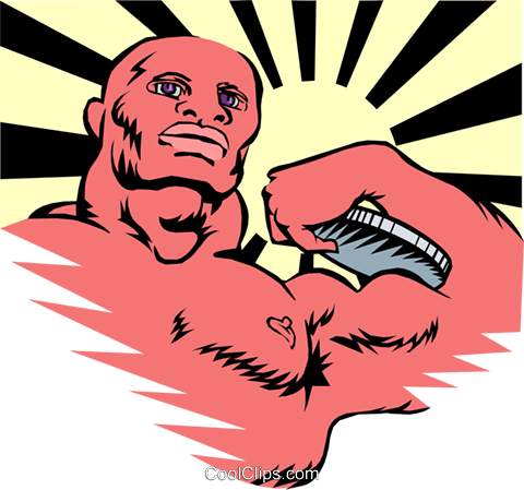 bodybuilding Royalty Free Vector Clip Art illustration peop2822