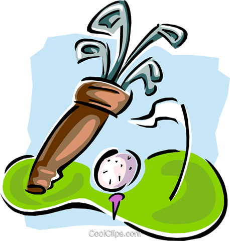 golf Royalty Free Vector Clip Art illustration spor0320