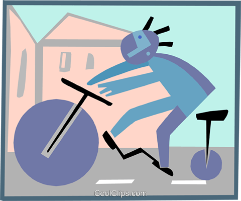 cycling Royalty Free Vector Clip Art illustration spor0323