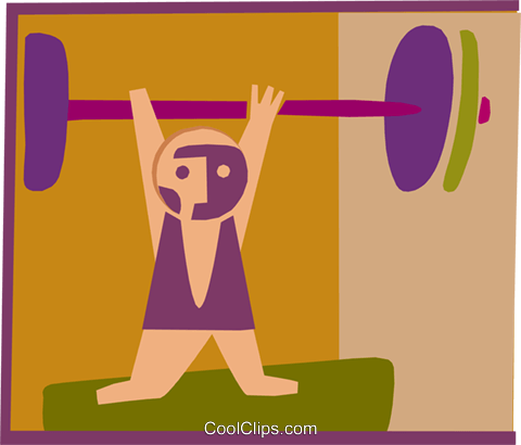 weight lifter Royalty Free Vector Clip Art illustration spor0324