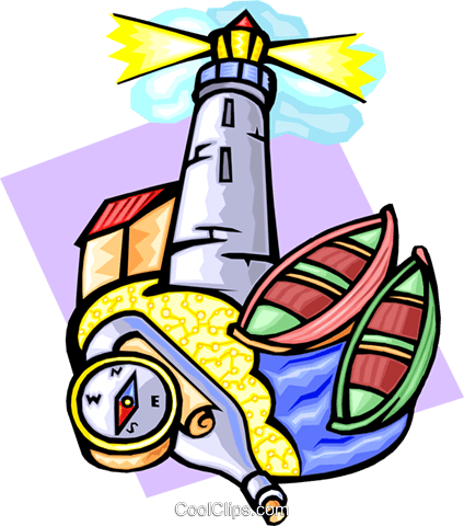 lighthouse scene Royalty Free Vector Clip Art illustration spor0328