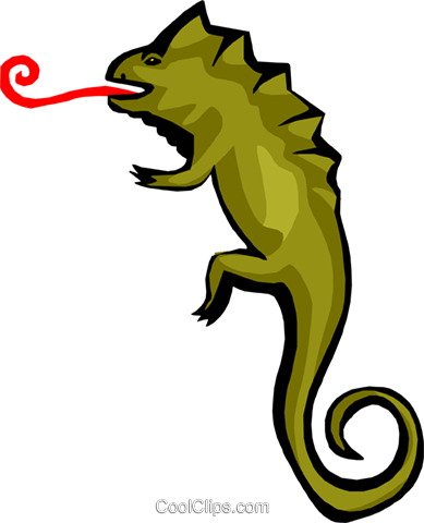 lizard Royalty Free Vector Clip Art illustration anim1777