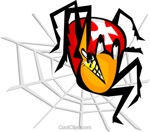 spider Royalty Free Vector Clip Art illustration anim1779