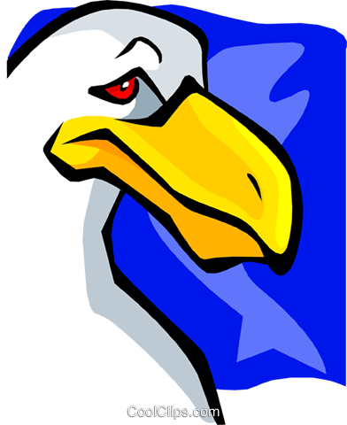 seagull cartoon Royalty Free Vector Clip Art illustration anim1784