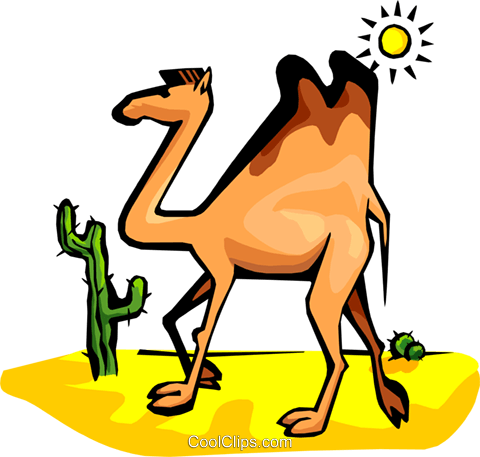 camel Royalty Free Vector Clip Art illustration anim1786