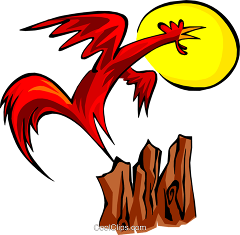 rooster Royalty Free Vector Clip Art illustration anim1787