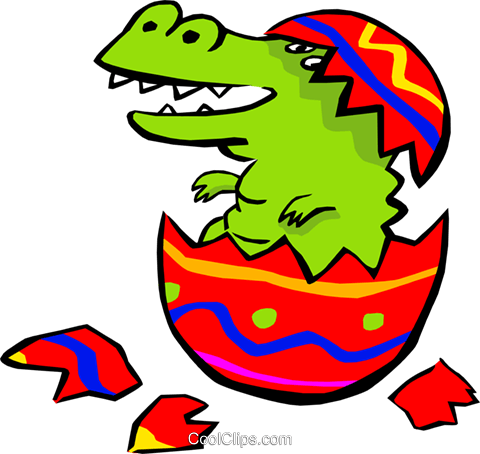 Baby alligator Royalty Free Vector Clip Art illustration anim1801