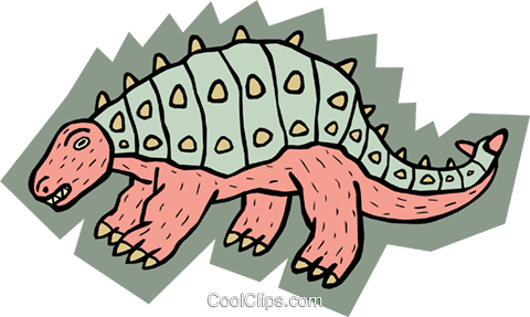 Prehistoric animal concept Royalty Free Vector Clip Art illustration anim1804