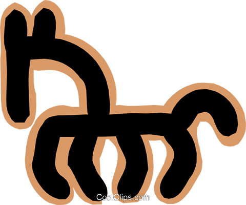 horse concept Royalty Free Vector Clip Art illustration anim1813