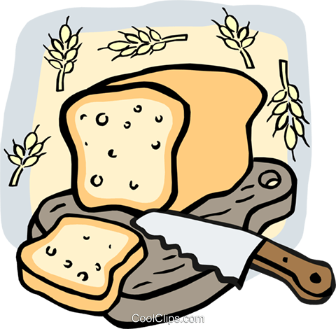 Loaf of bread Royalty Free Vector Clip Art illustration food0965