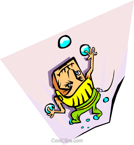 juggling Royalty Free Vector Clip Art illustration peop2881