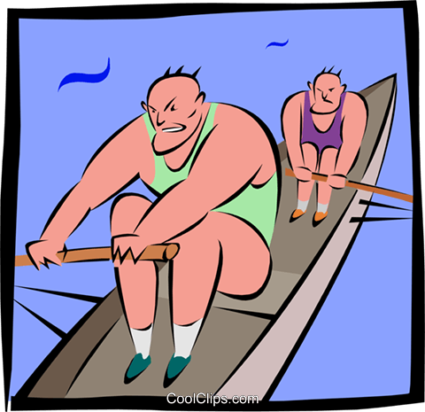 rowers Royalty Free Vector Clip Art illustration peop2890