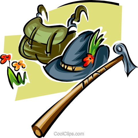 hiking Royalty Free Vector Clip Art illustration spor0332